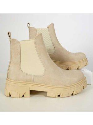 J.Y.M. Chelsea Boot Beige
