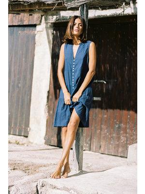Isla Ibiza Bonita Sleeveless Short Dress Summer Indigo – Blue