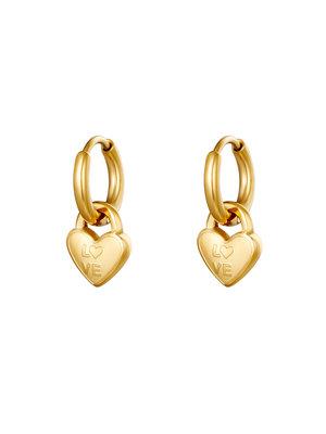 J.Y.M. Earrings Locked In Love