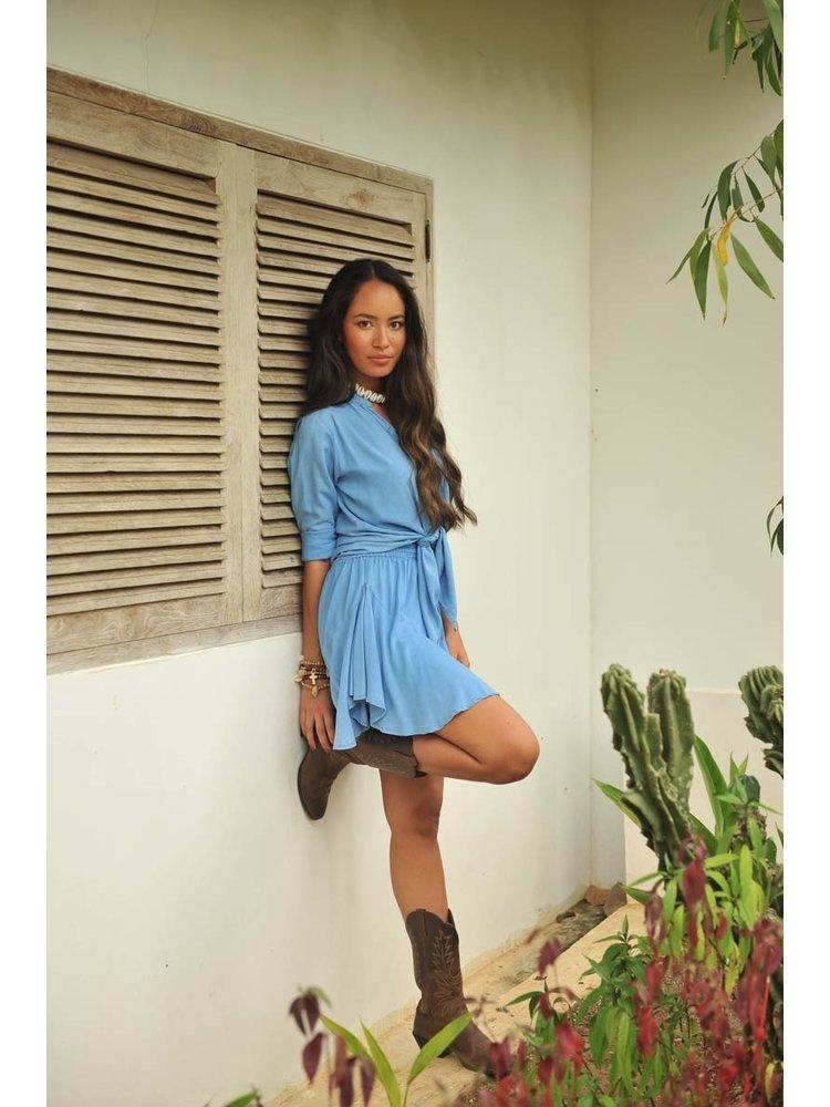 Hot Lava Skirt Fleur  True Blue