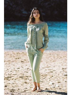 Isla Ibiza Bonita Chino Trousers Antique Green