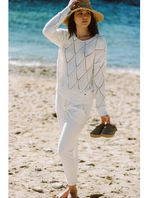 Isla Ibiza Bonita Chino Trousers Pants Llisa – White