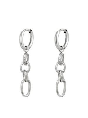 J.Y.M. Earrings Chain It Silver