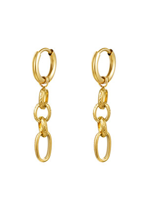 J.Y.M. Earrings Chain It Gold