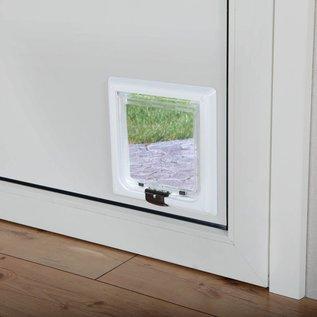 Trixie Kattenluik 4 standen met tunnel wit XL