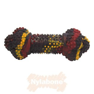 Nylabone Rubber Chew, Bacon Cheeseburger maat S