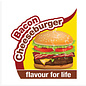 Nylabone Rubber Chew, Bacon Cheeseburger maat M