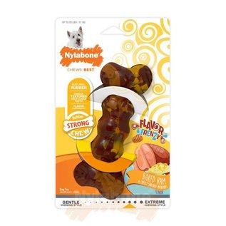 Nylabone Rubber Chew, Ham & Cheesy Potatoes  maat S