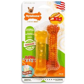 Nylabone Dura chew   twin pack Vanilla & Hot Dog