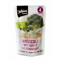 Biologisches Brokkoli Gericht 4 Monate