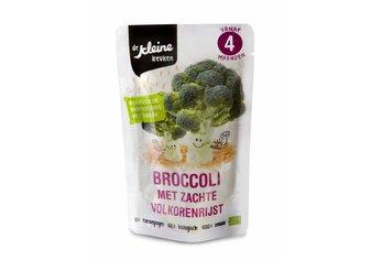 Biologische Broccoli met zachte volkorenrijst