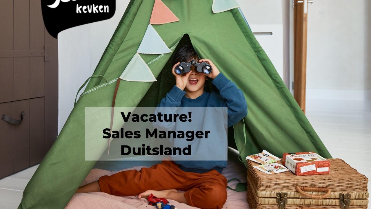 Vacature! Sales manager Duitsland