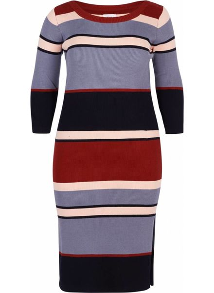 Zizzi Knitted dress stripe Paige