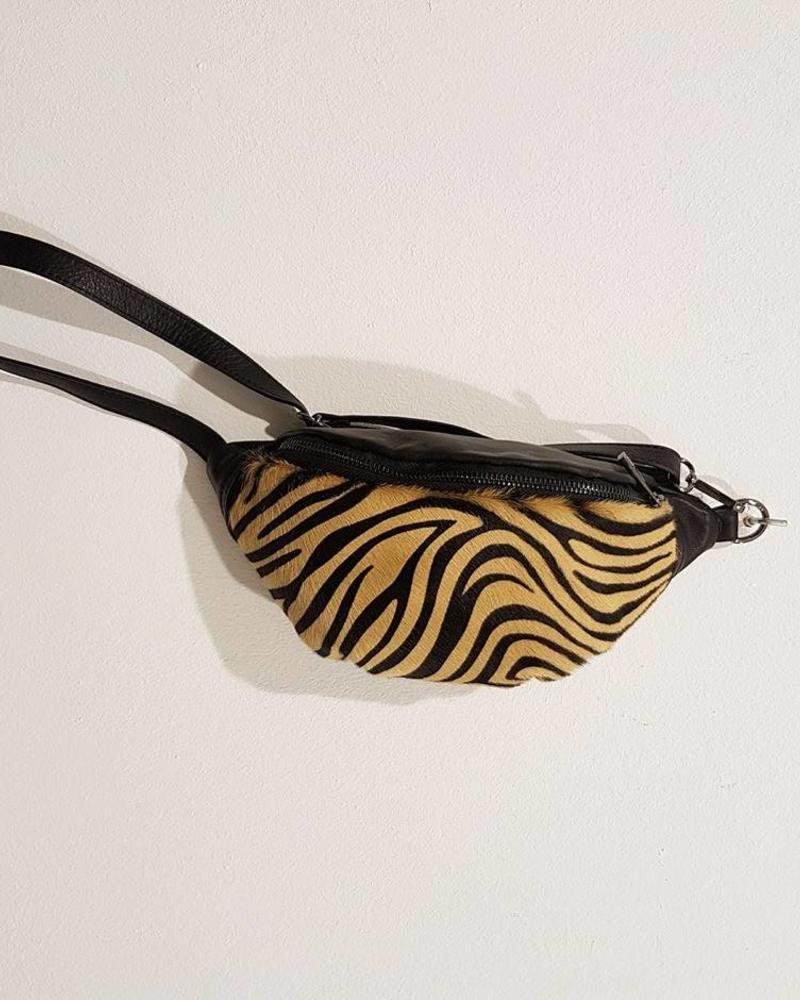 fanny pack camel zebra
