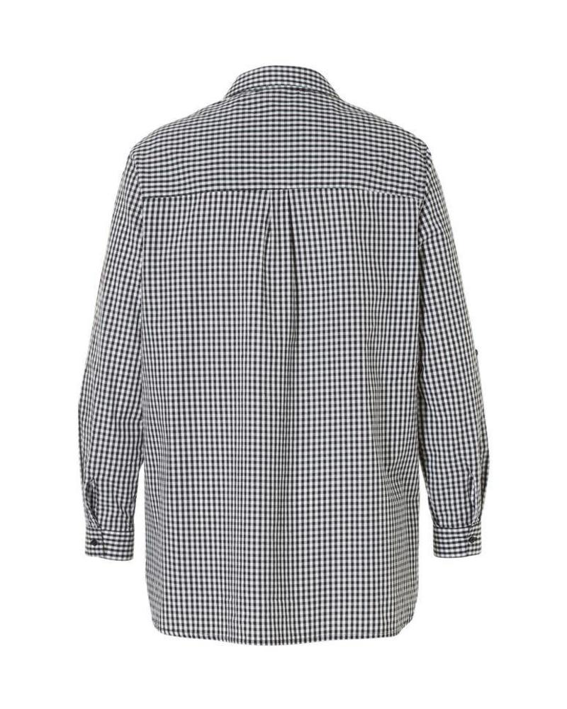 October blouse gingham