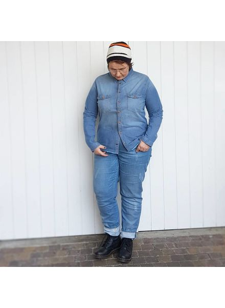 denim on denim blue frog jeans