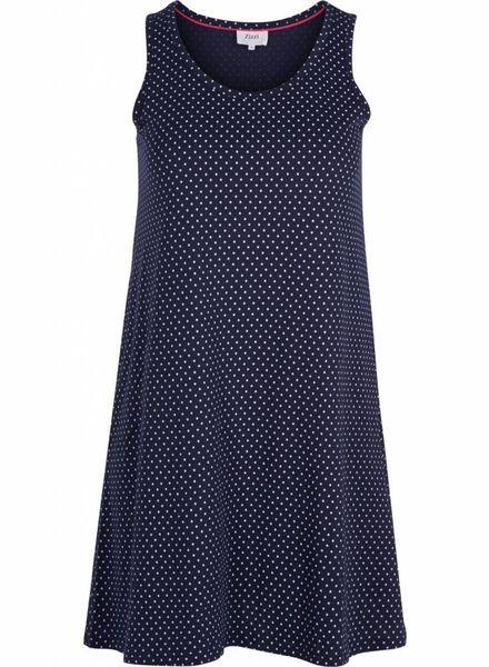 Zizzi Dress Mina navy dot