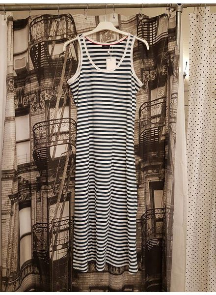 Mina 7/8 dress Majolica blue stripe
