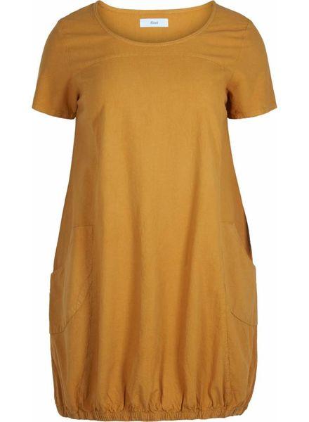 Zizzi Cosy dress golden yellow
