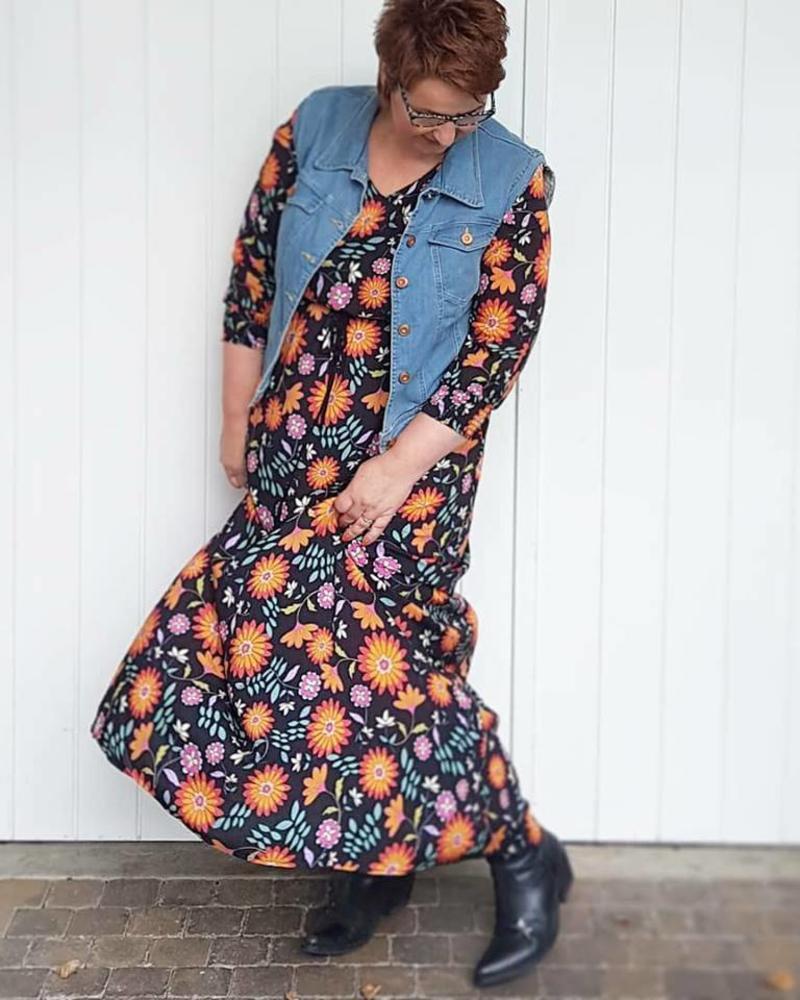 Maxidress October / Denim gilet BlueFrogJeans