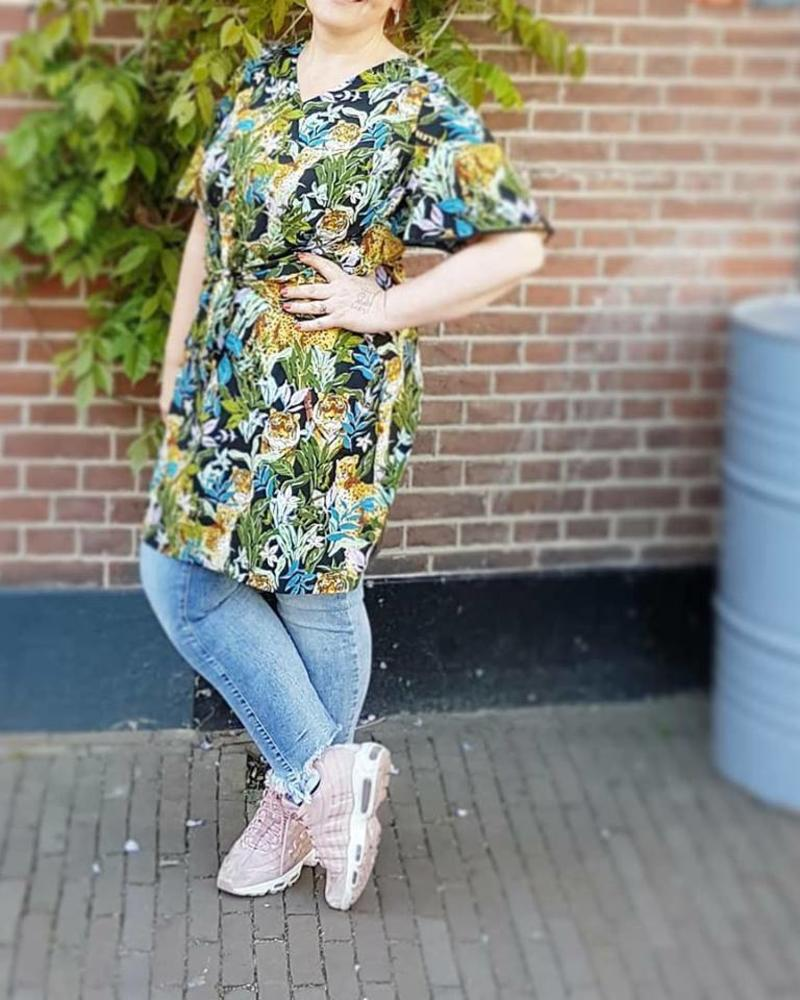 Tropical Tiger kimono dress