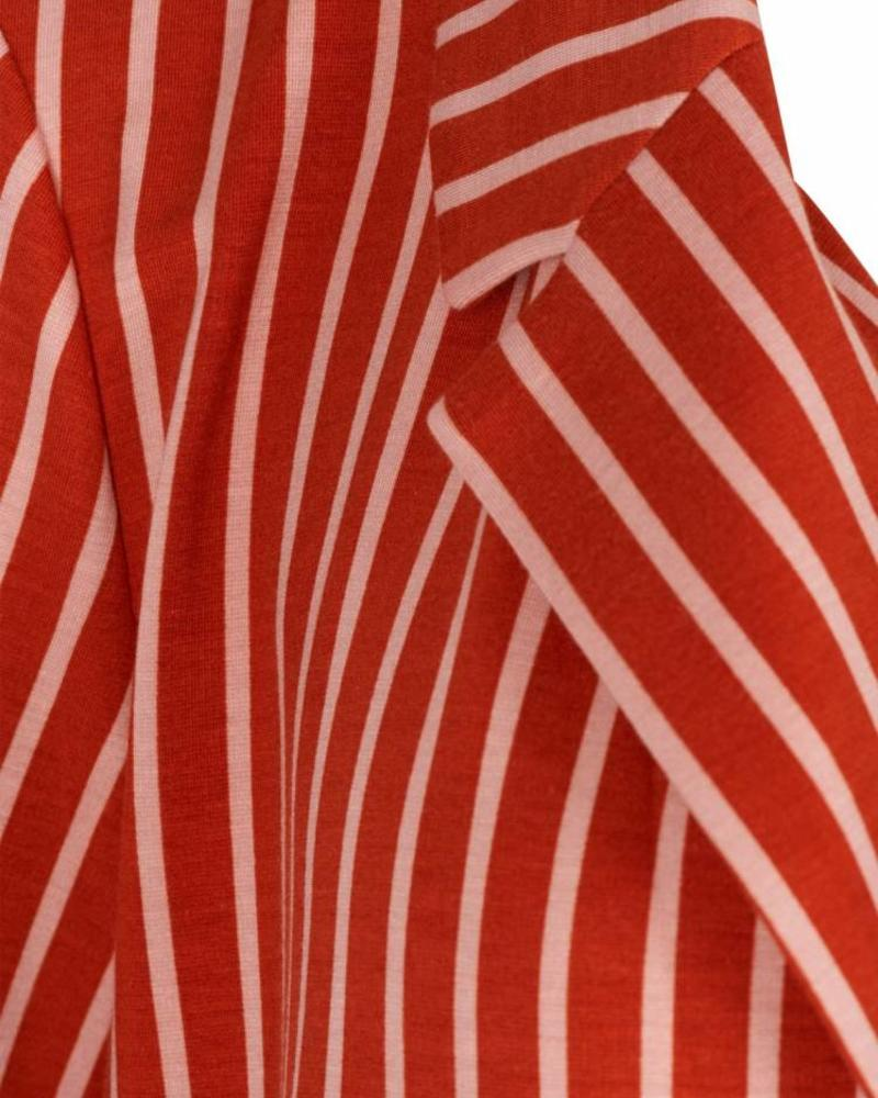 Zizzi crop sleeve blazer rooibos