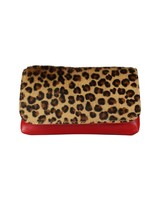 Belt bag leopard rood