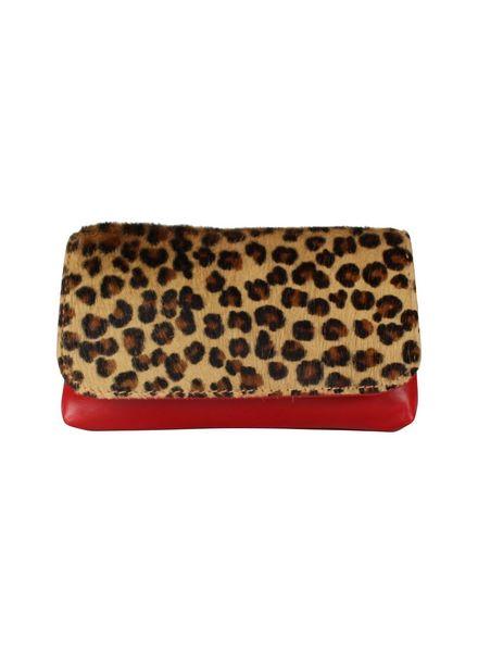 Belt bag leopard rood