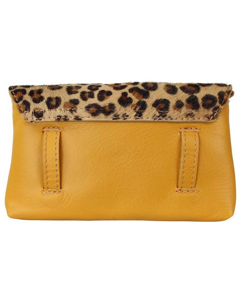 Belt bag leopard geel