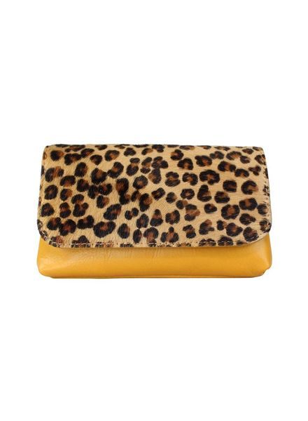 Belt bag leopard geel
