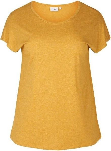 Zizzi basic shirt geel