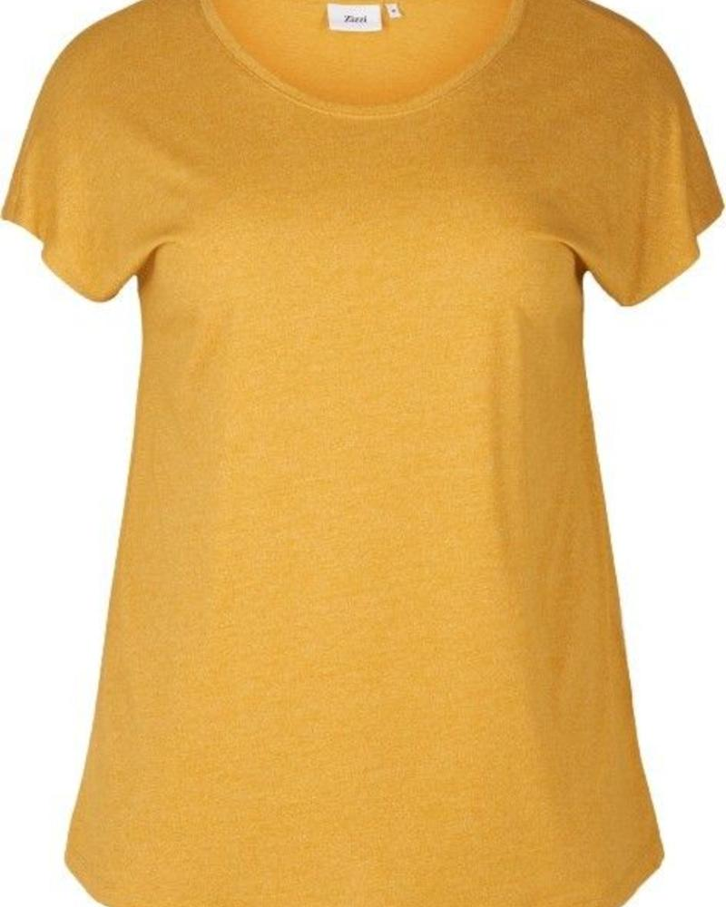 Zizzi basic shirt geel