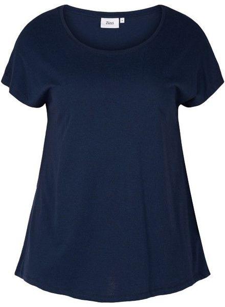 Zizzi basic shirt blauw