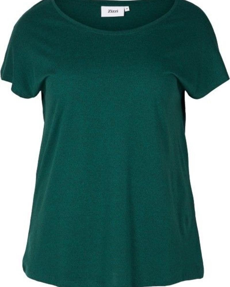 Zizzi basis shirt groen