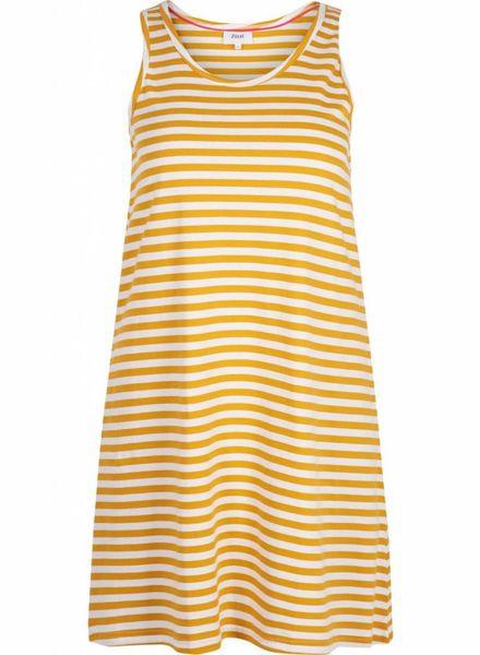 Zizzi Dress Mina golden yellow stripe