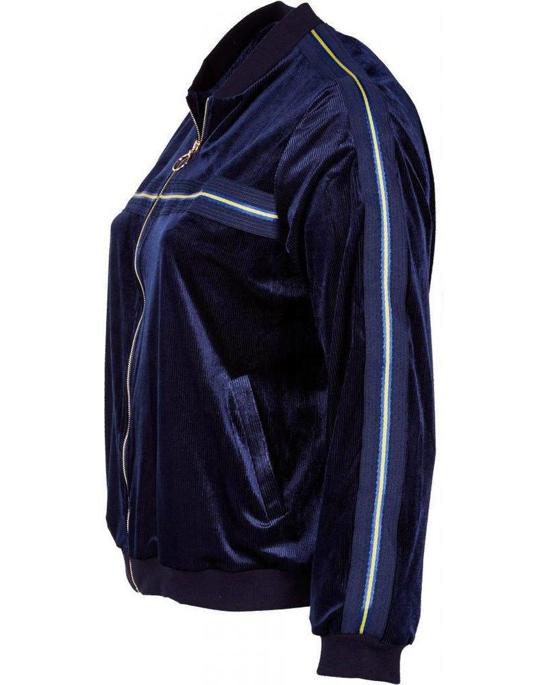 Zoey jacket rib sidestripe