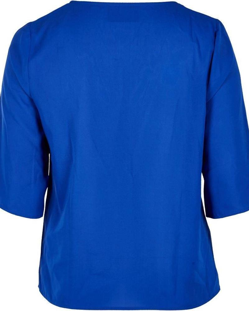 Zoey top royal blue