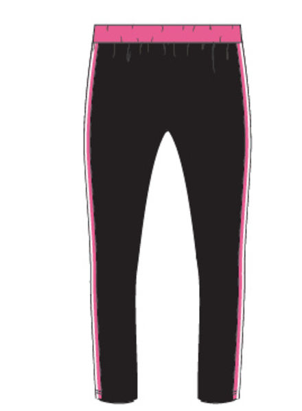 PlusBasics #5 pants slim black/pink