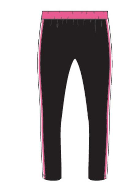 PlusBasics #5 pants slim black/pink