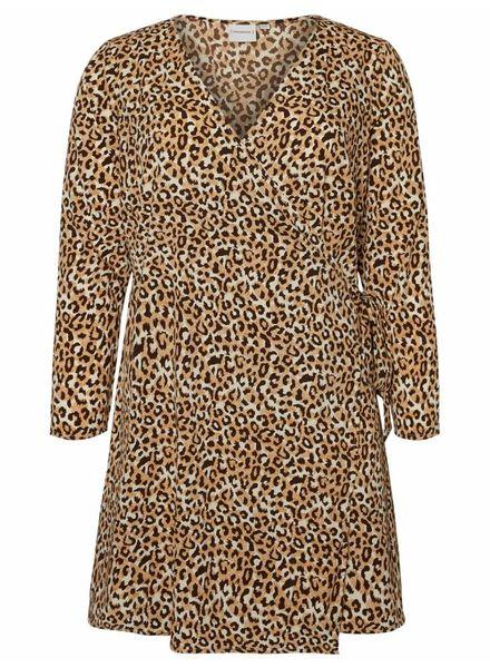 Junarose Leonora leopard wrapdress