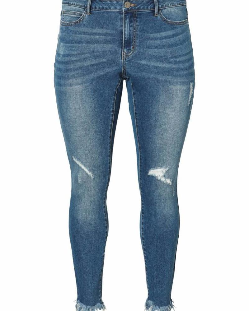 Junarose Ankle slim jeans frayed