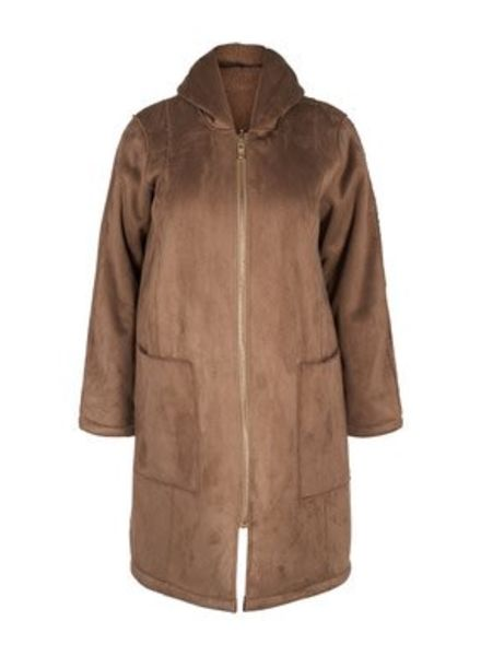 Zizzi Reversible coat teddy Valentine