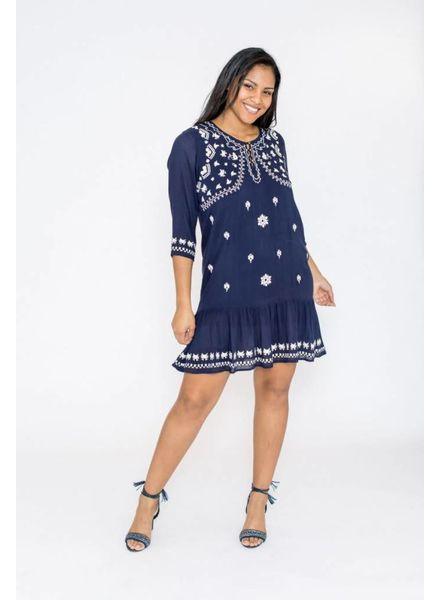 October jurk met borduur