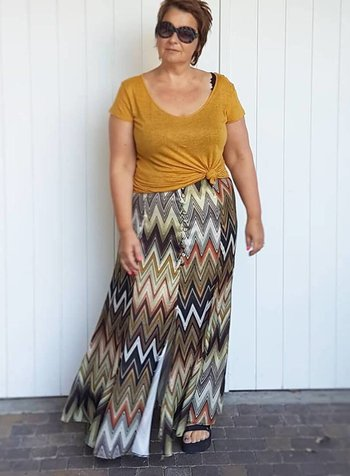70s long skirt October