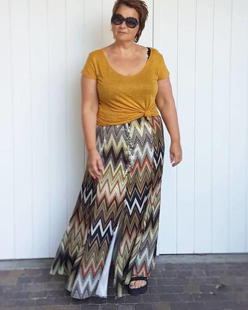 70s long skirt October