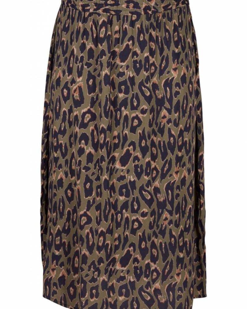 Zizzi leonora skirt green animal