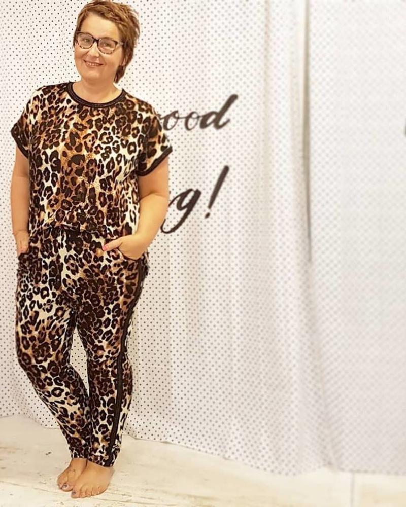 leopard jumpsuit Zoey