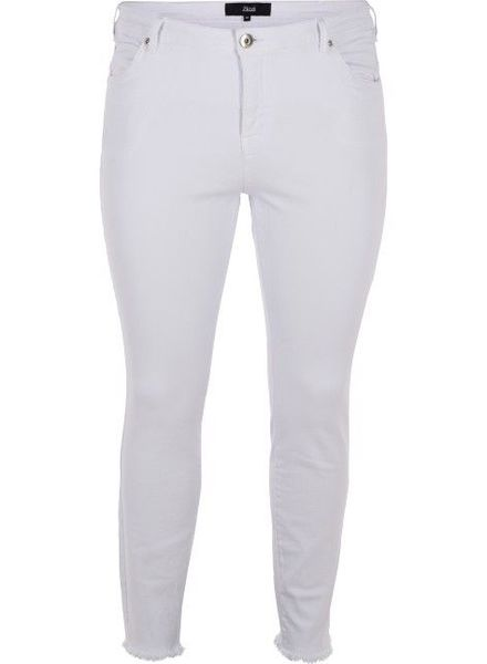 Zizzi jeans cropped amy white denim