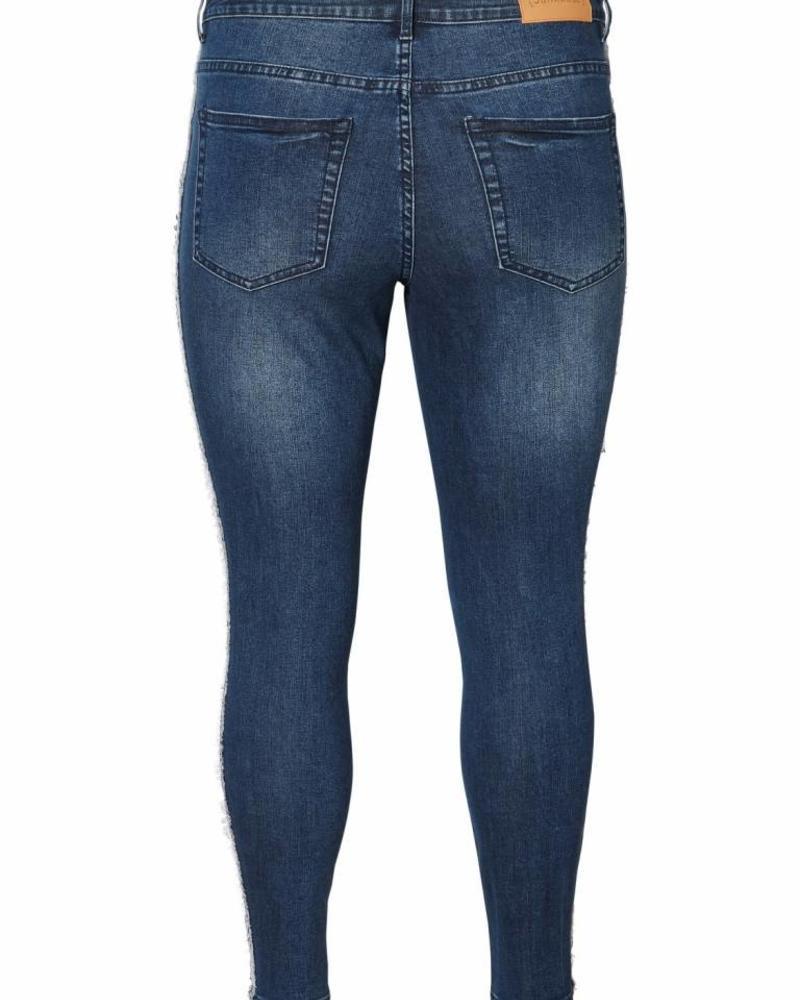 Junarose Five ankle slim jeans fringes