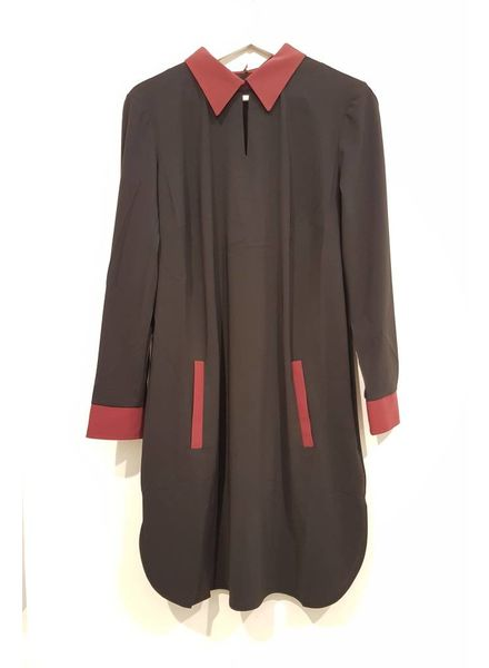 PlusBasics Shirtdress #10 black/red